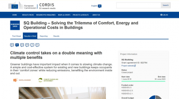Climate Control with a double meaning: an interview with DeltaQ on the EU Cordis website